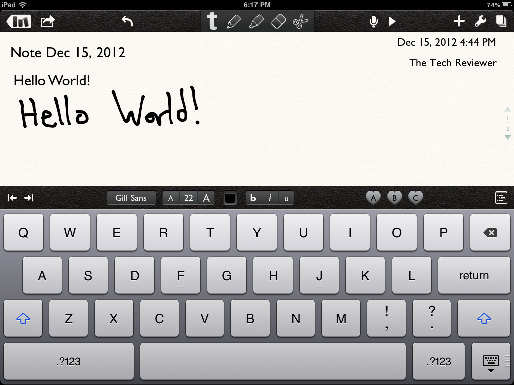 Notability iPad App Review