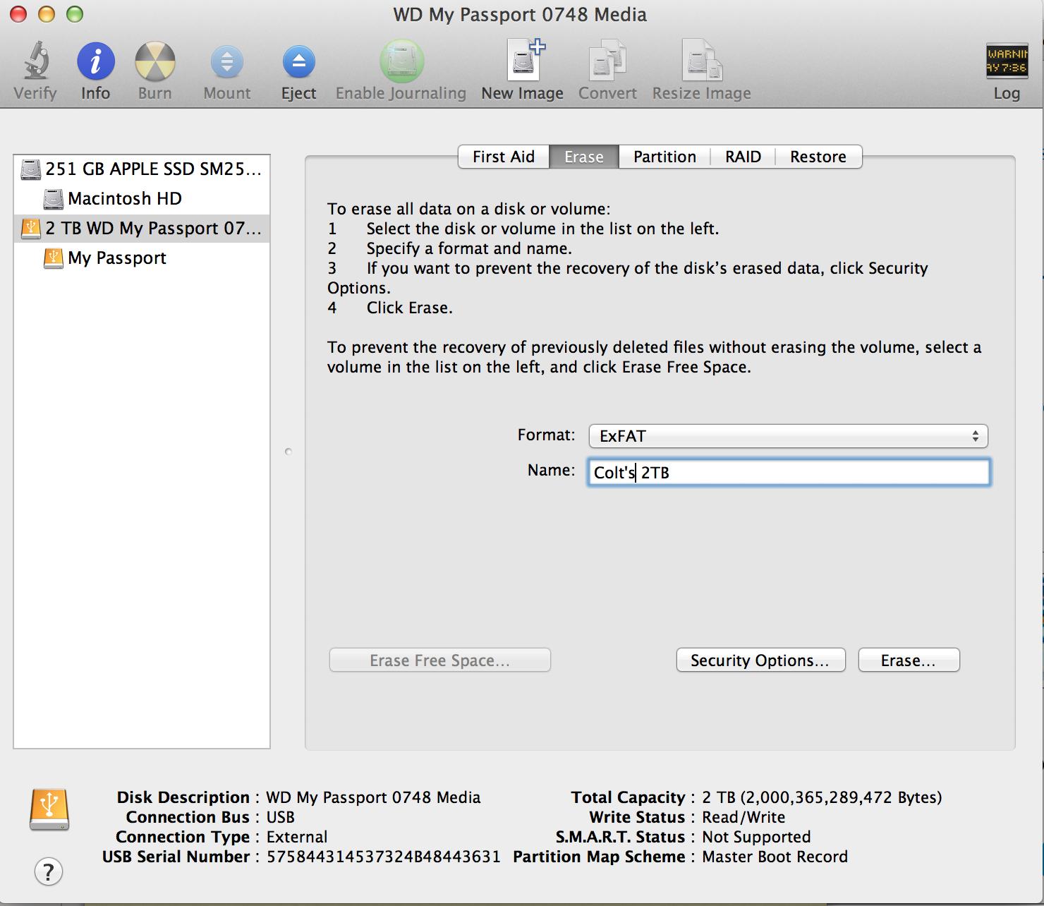 open mac format usb pc