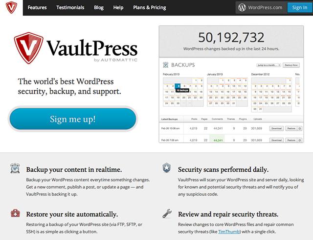vaultpress-homepage