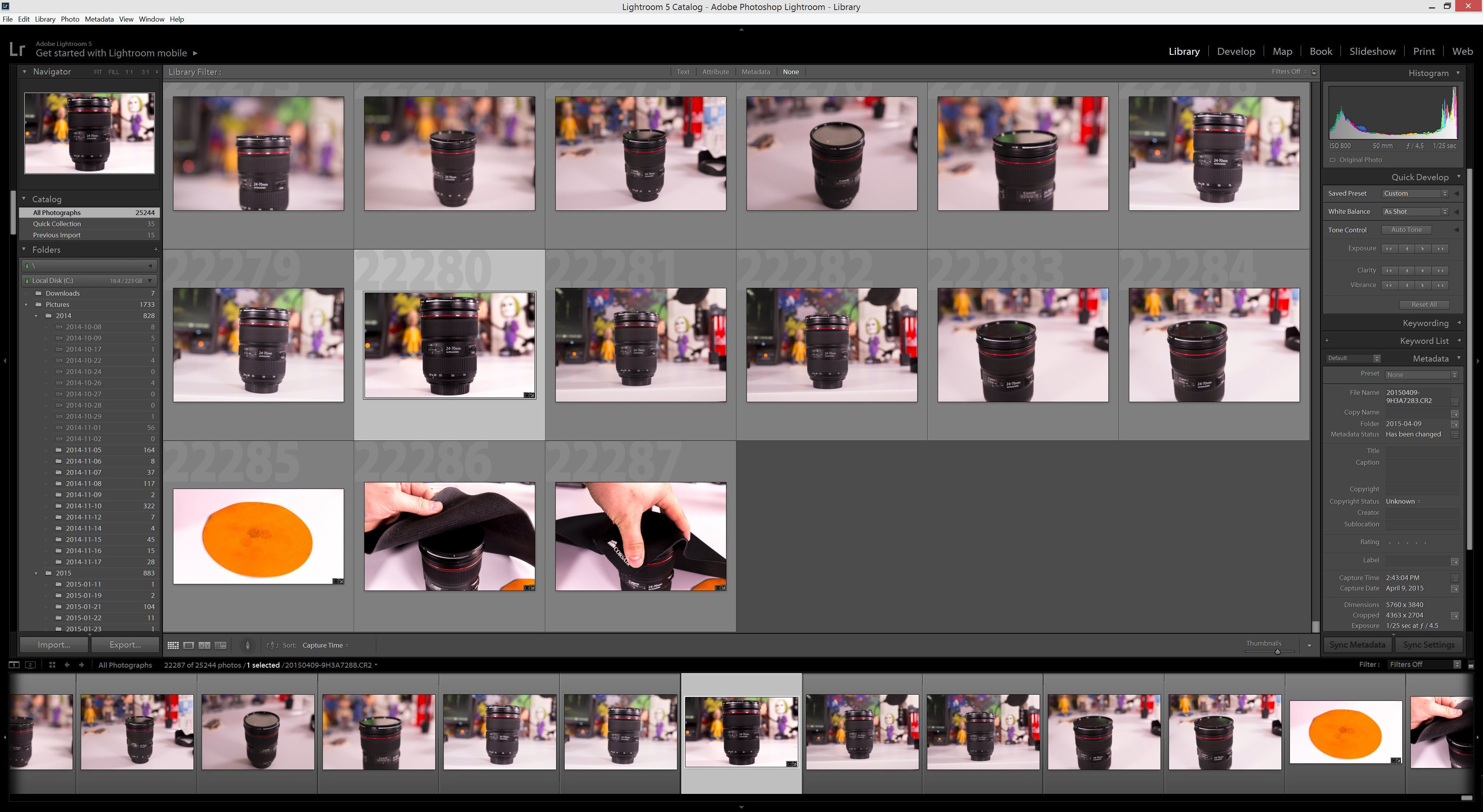 Lightroom 5-7 Library Tab