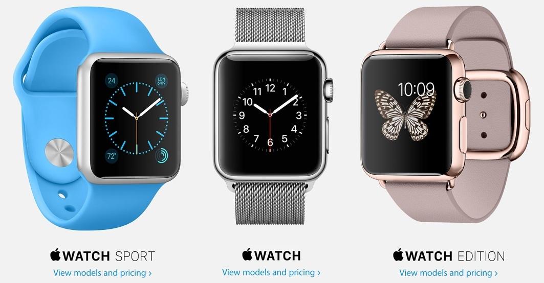 The three Apple Watch variants. (Source: Apple)