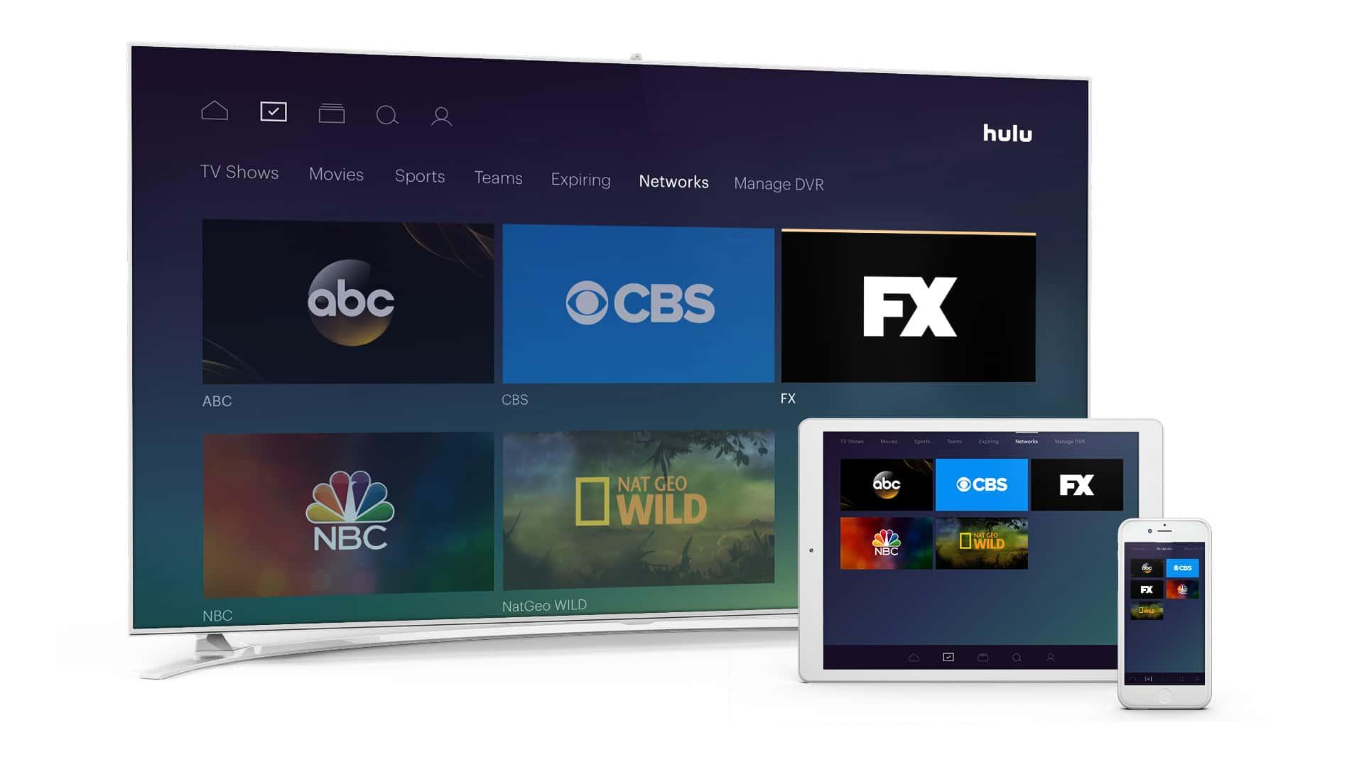 Hulu Live TV Major Networks