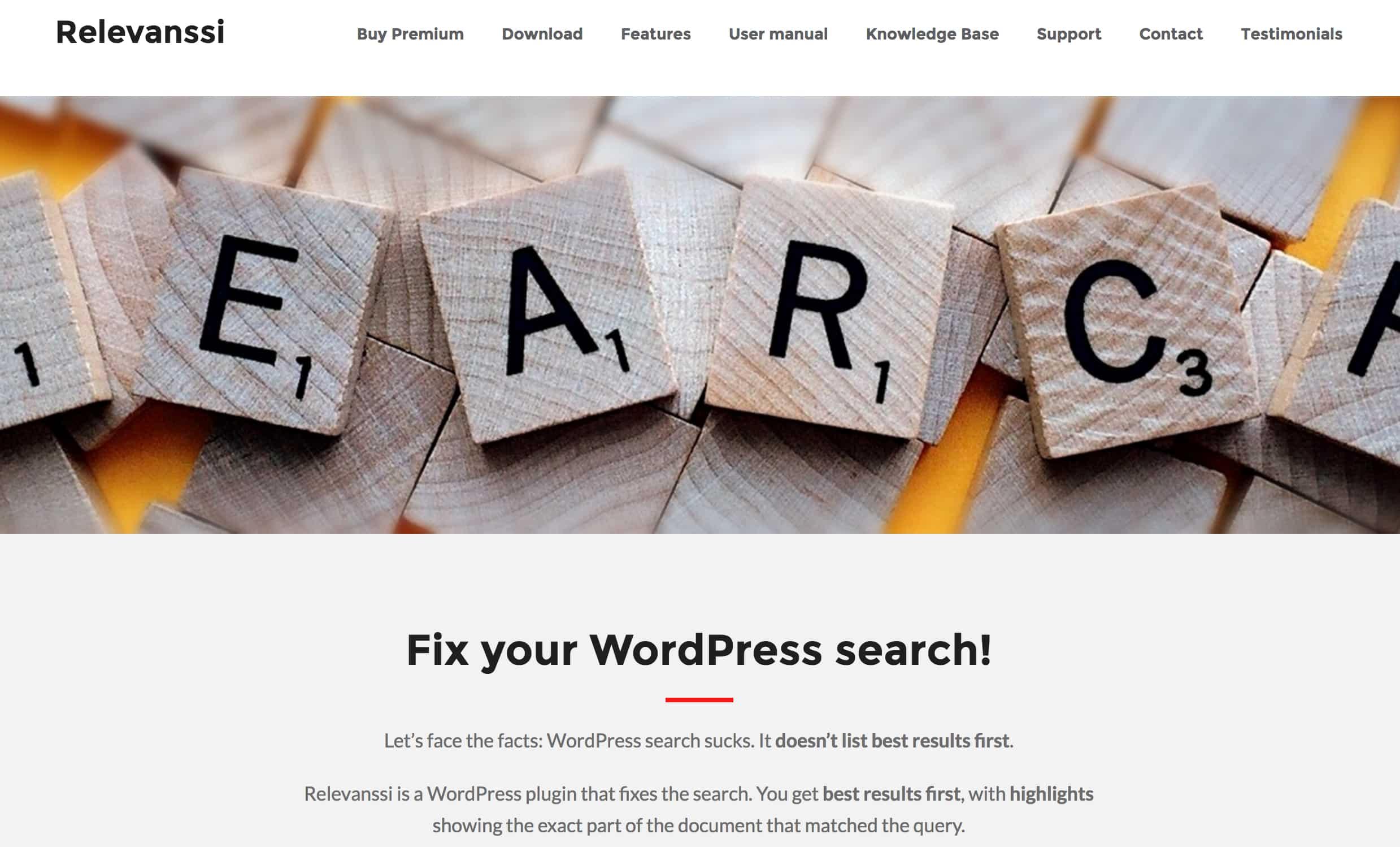 Relevanssi - Best WordPress Search Plugin
