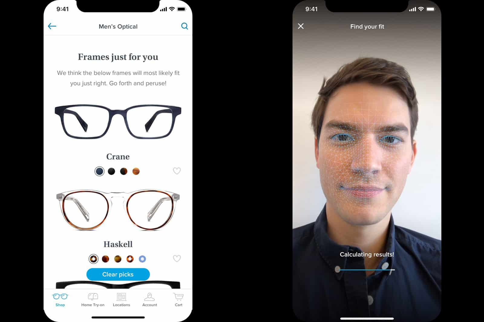 Warby Parker iOS App