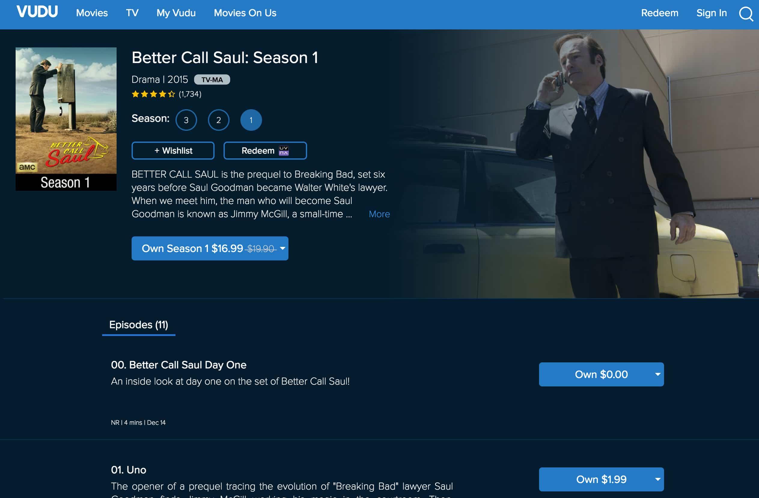 Better Call Saul Vudu Season 1