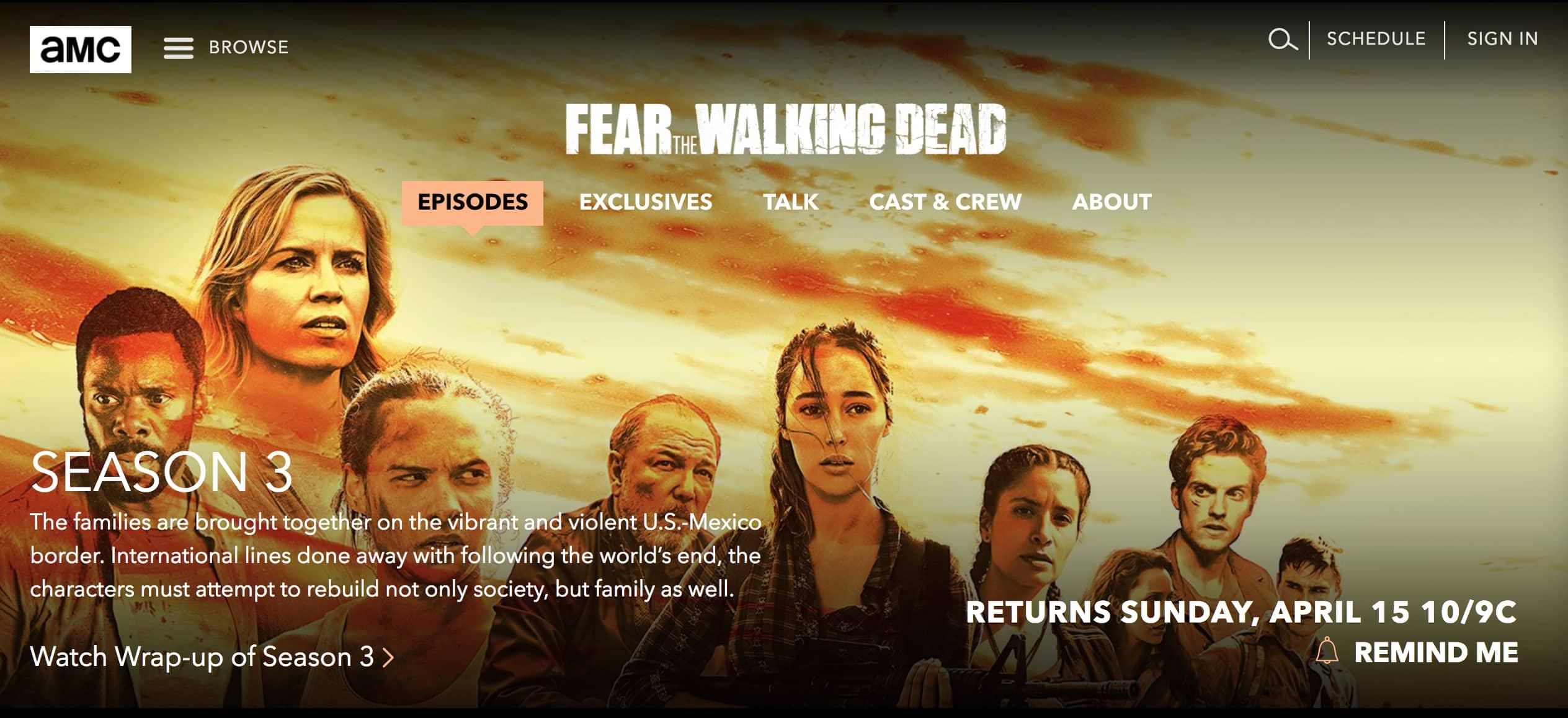 Fear The Walking Dead Spinoff AMC