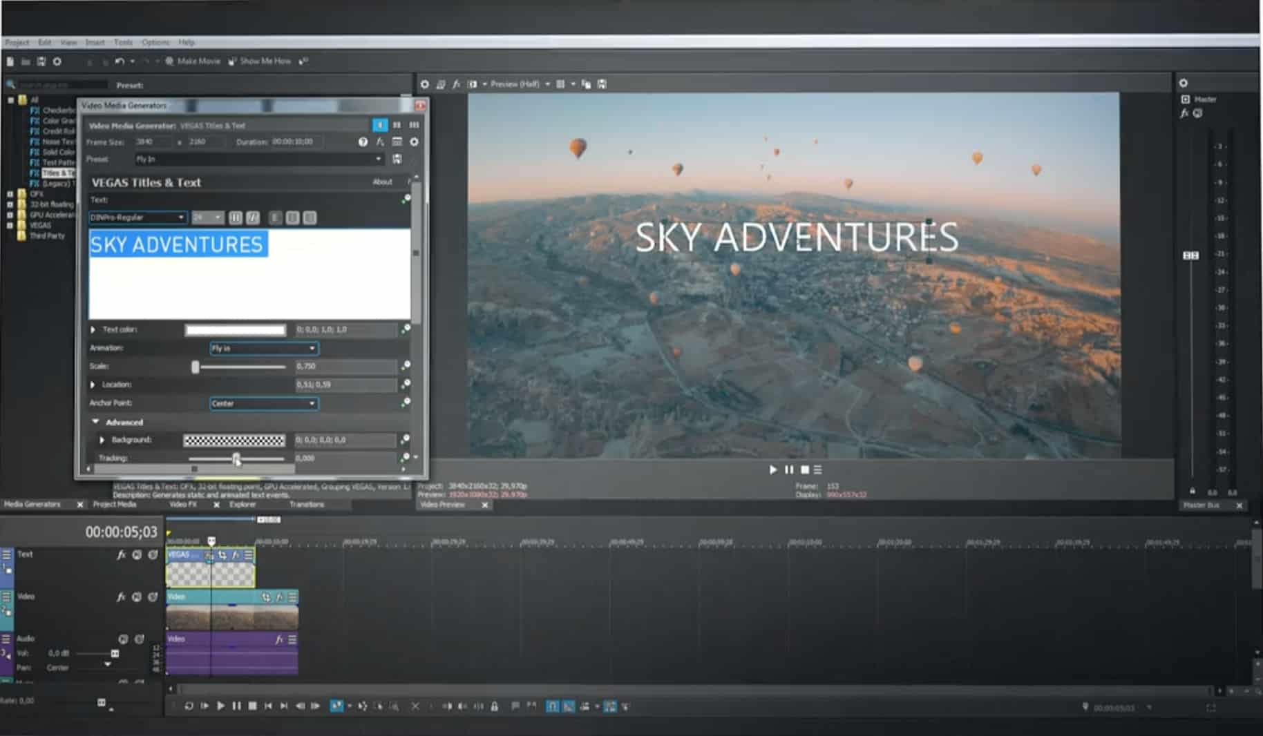 MAGIX - video editing software for novice