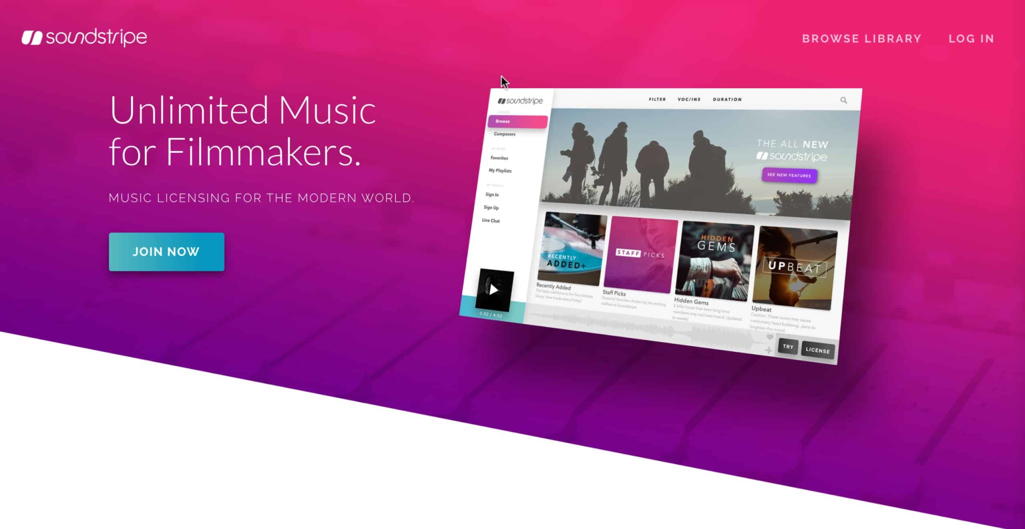 SoundStripe Homepage