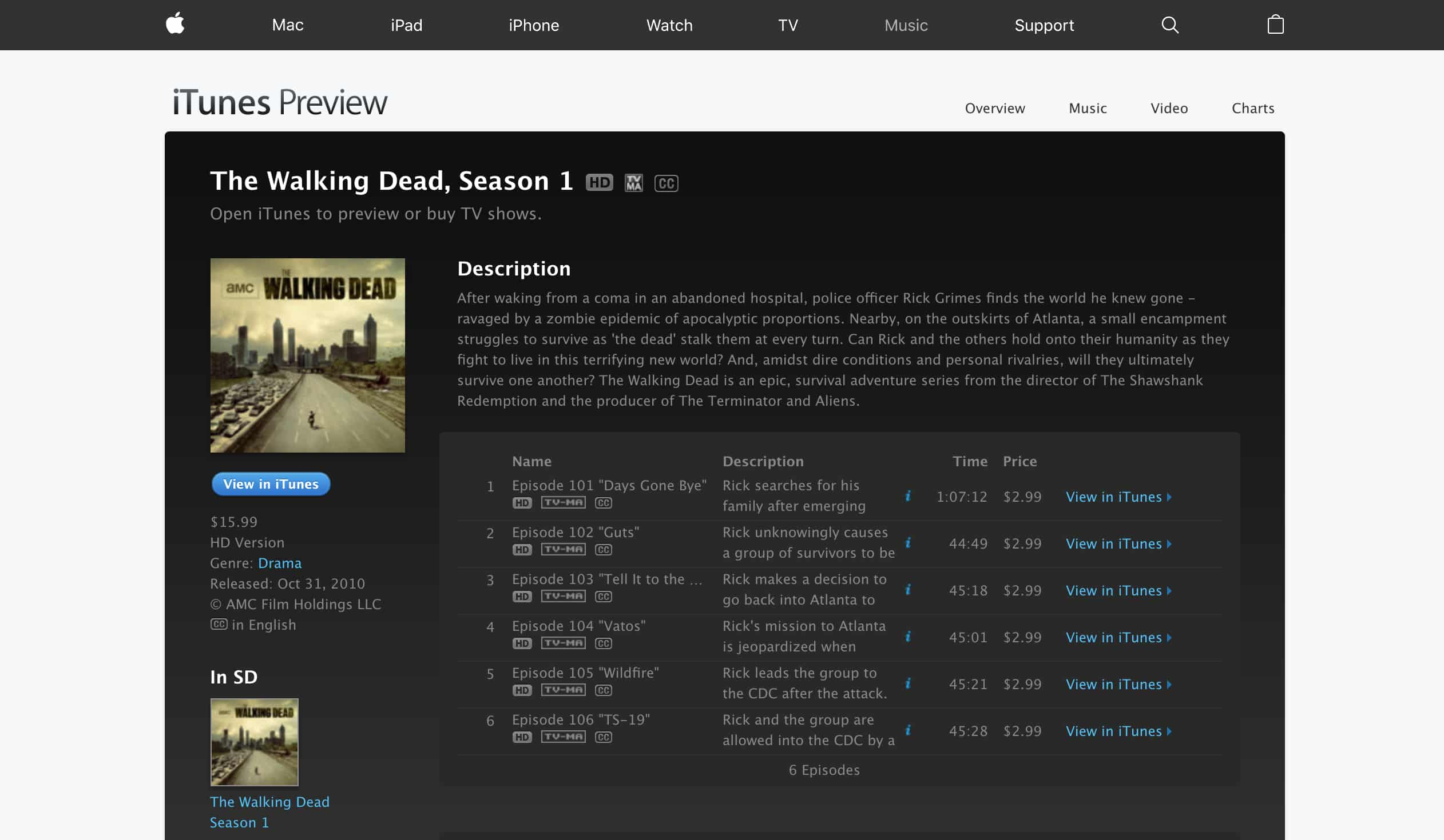 Apple's iTunes Show Purchase