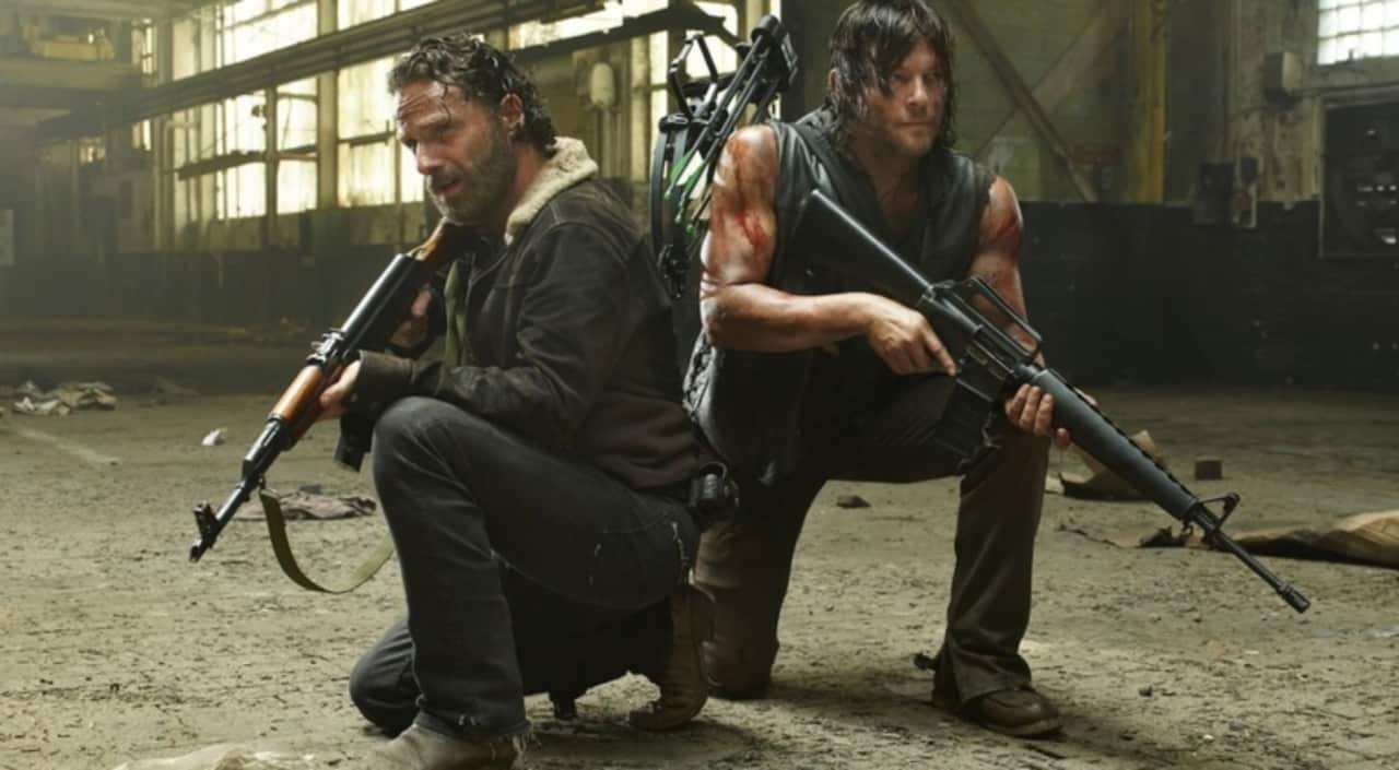 rick and daryl from the television series