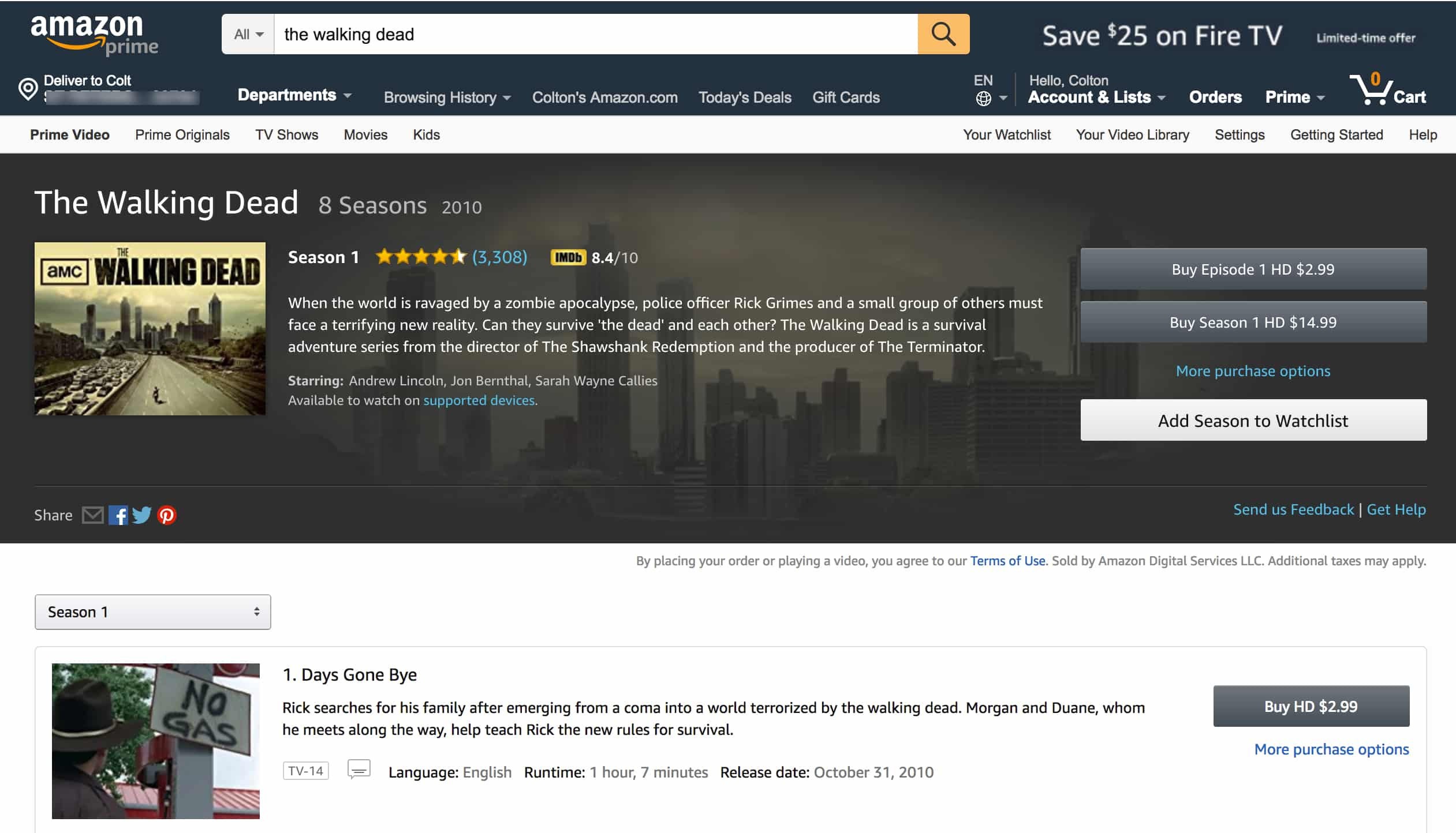 Amazon Instant Video TWD
