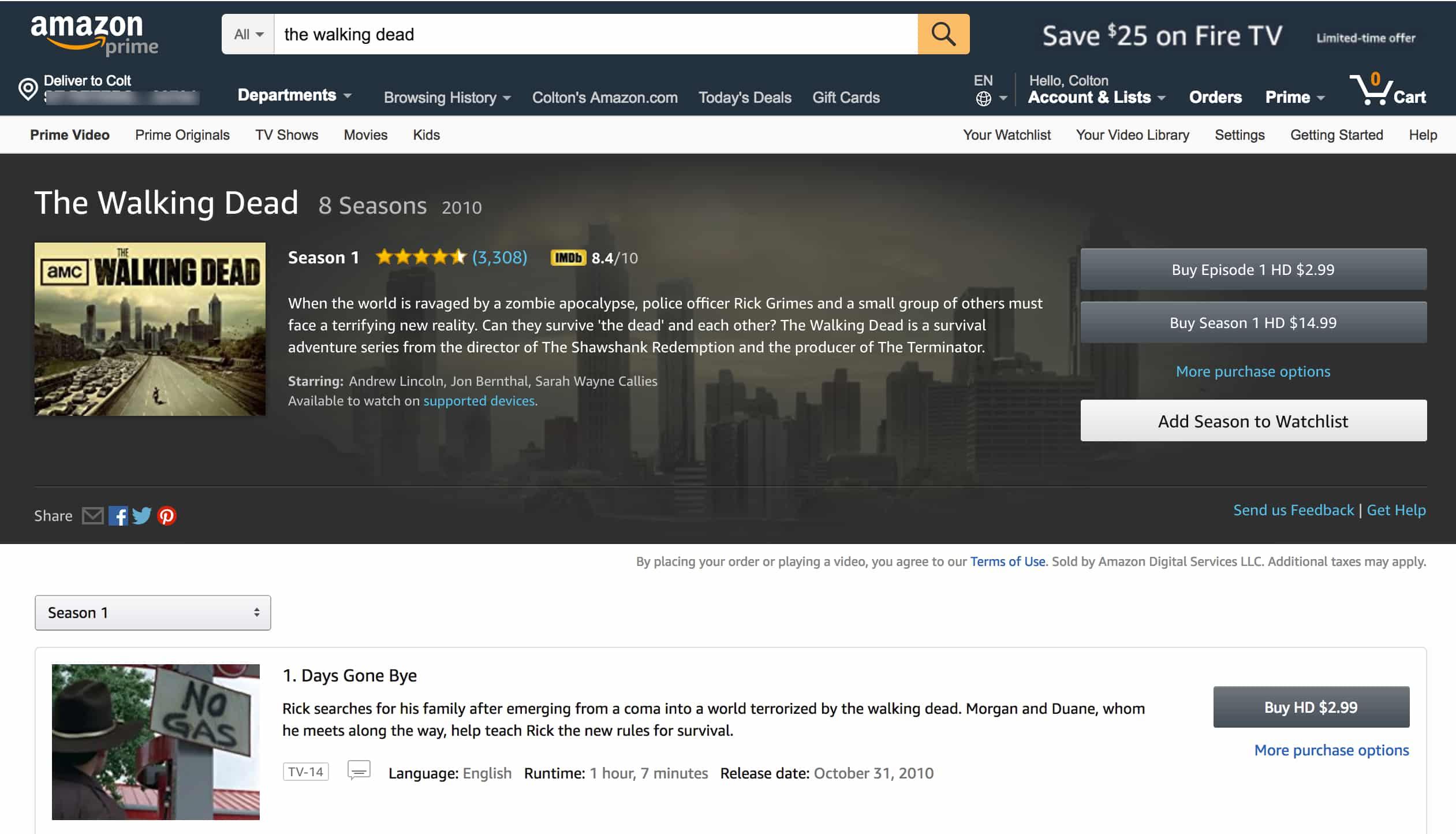 Amazon Instant Video TWD