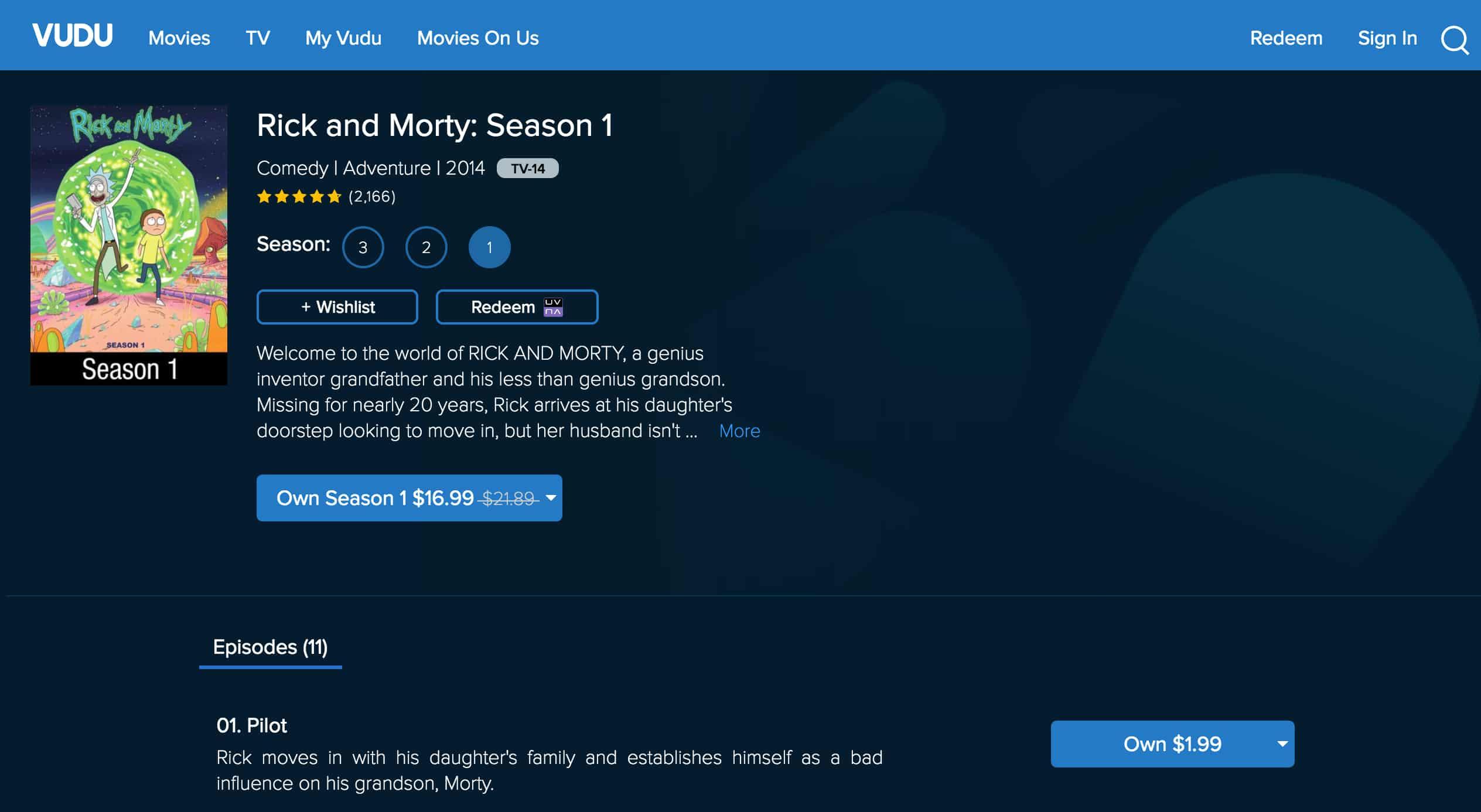 Vudu Morty and Rick Season 1