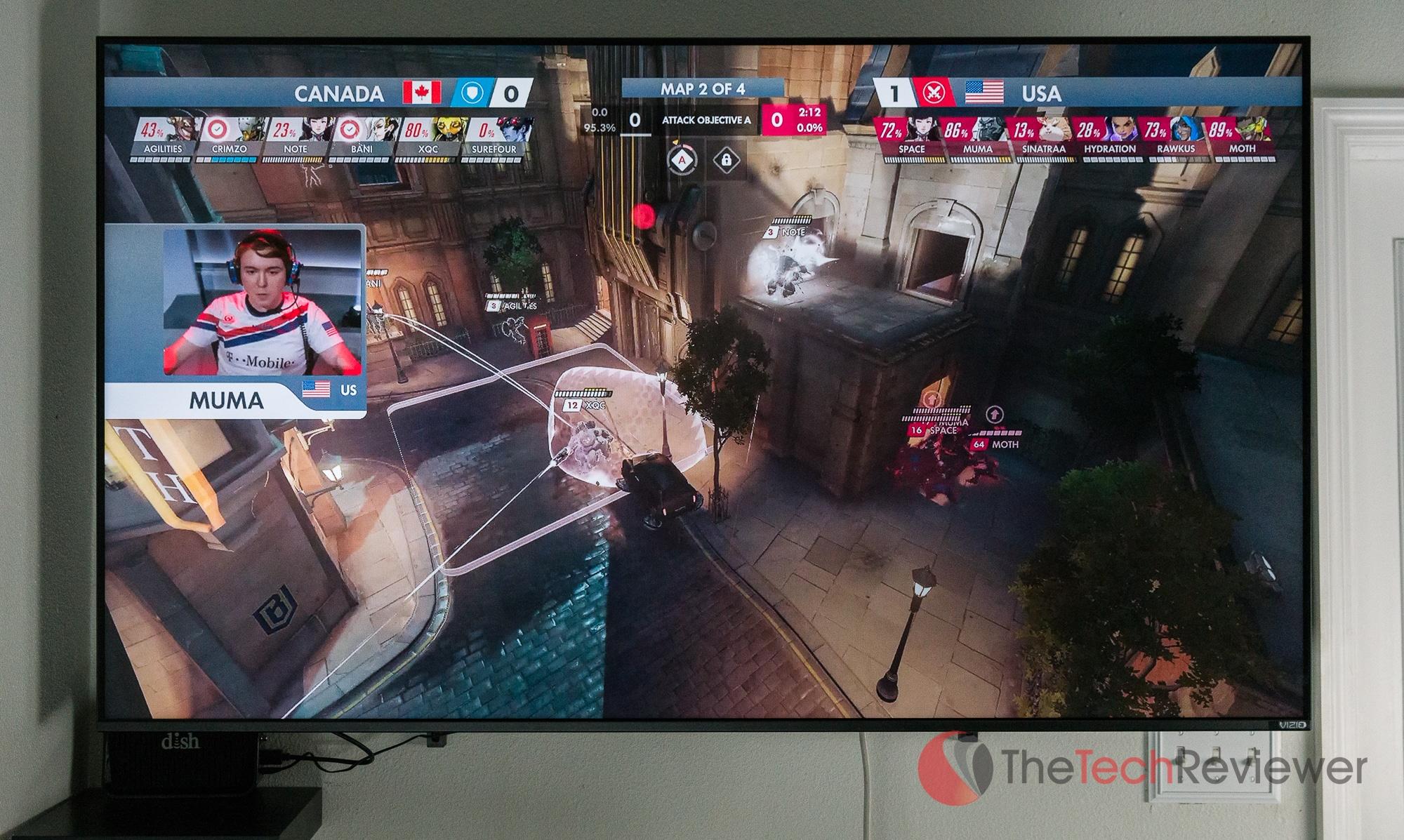 Blizzard's Overwatch World Cup streaming to the VIZIO M65-F0 via the internal Chromecast.