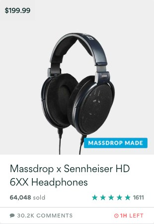 Massdrop X Sennheiser HD6xx
