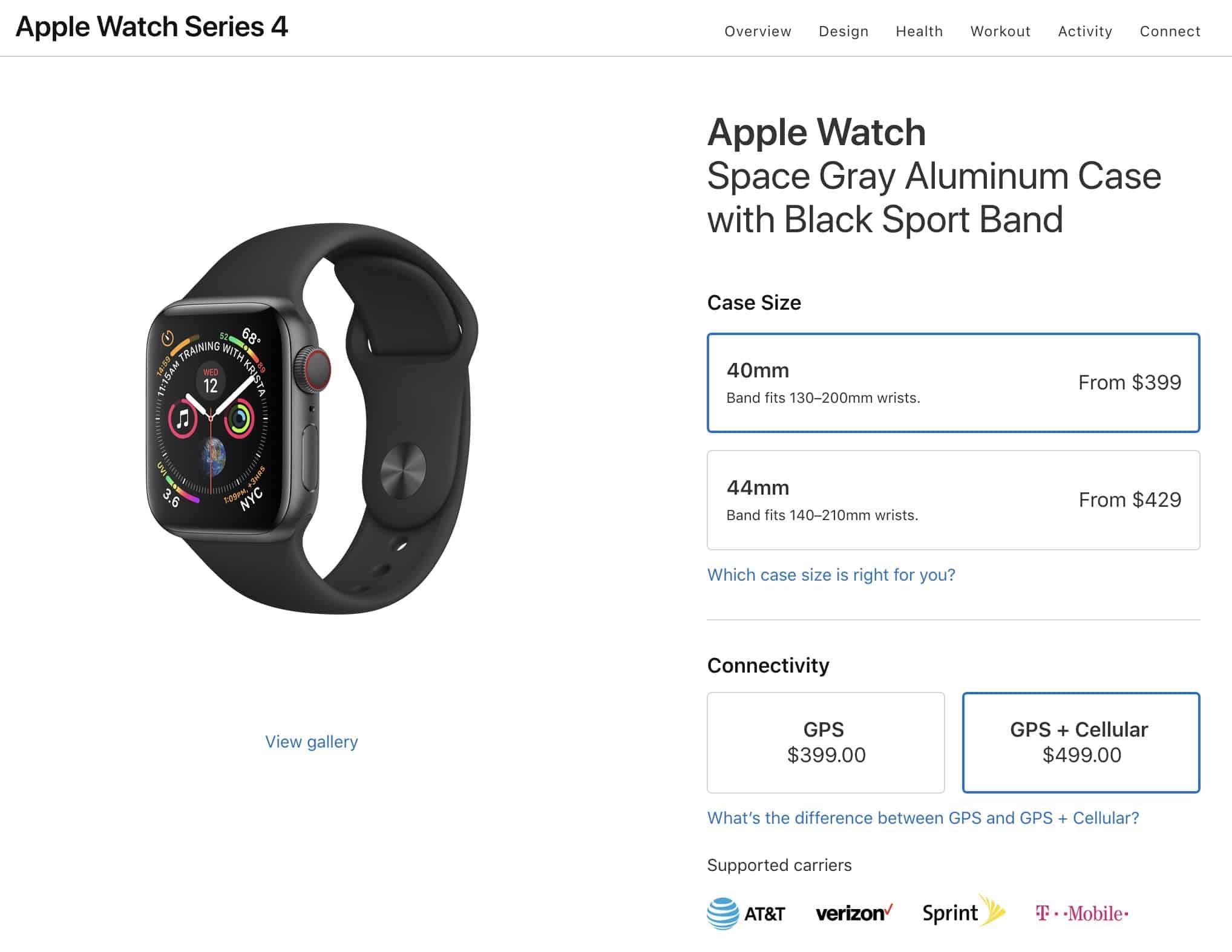 Apple Watch LTE Support