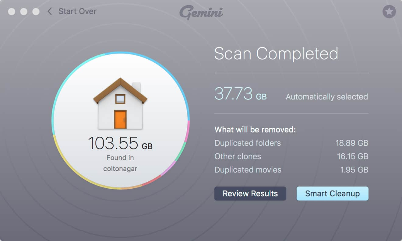 MacPaw Gemini Results