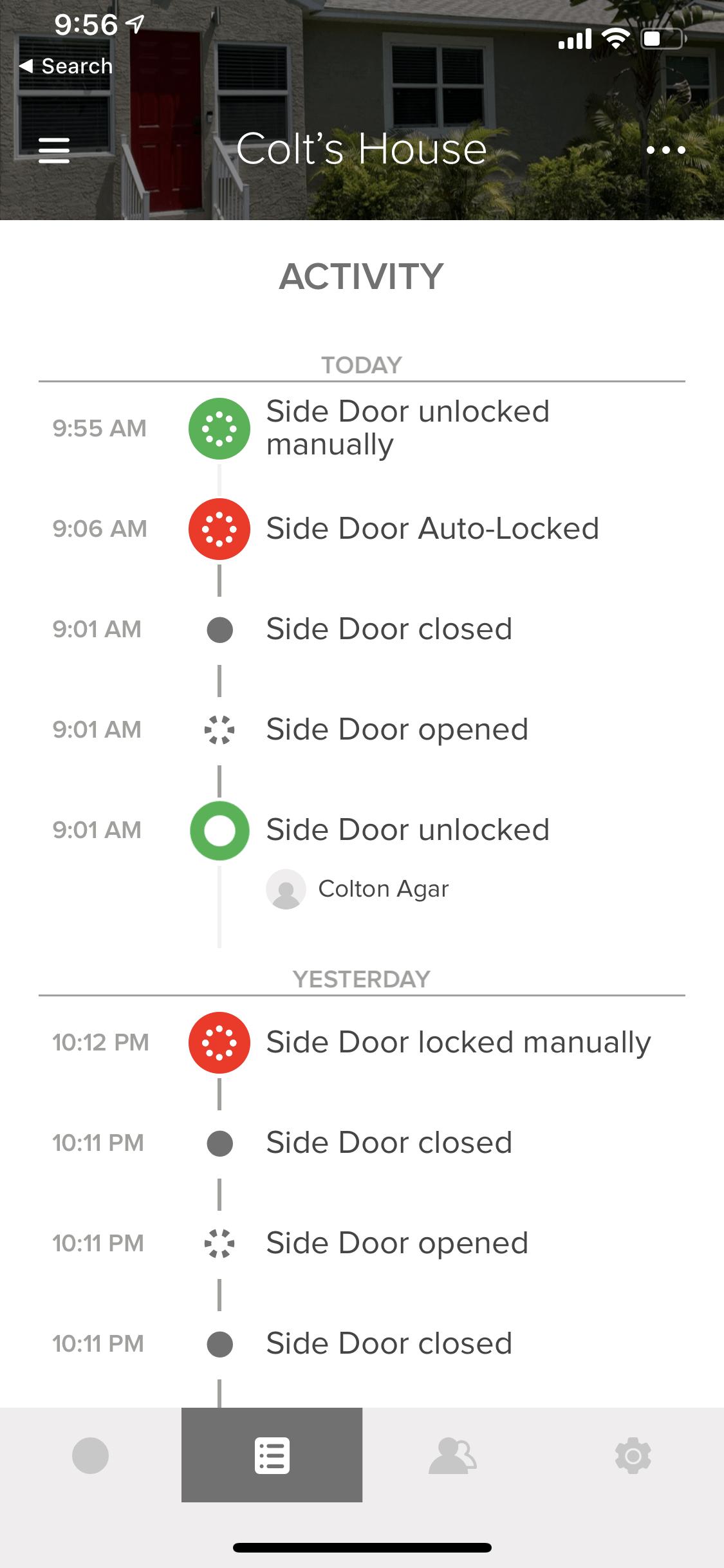 August Lock Status History