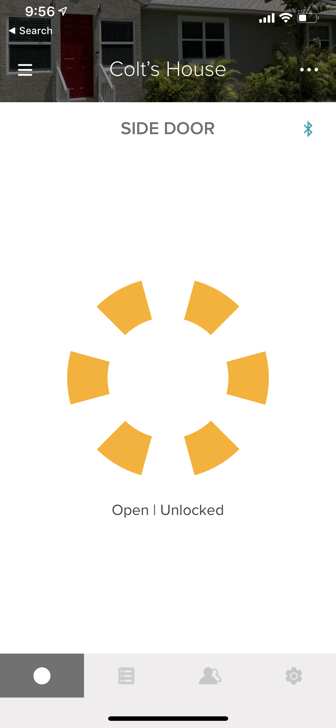 August Lock Status Opened