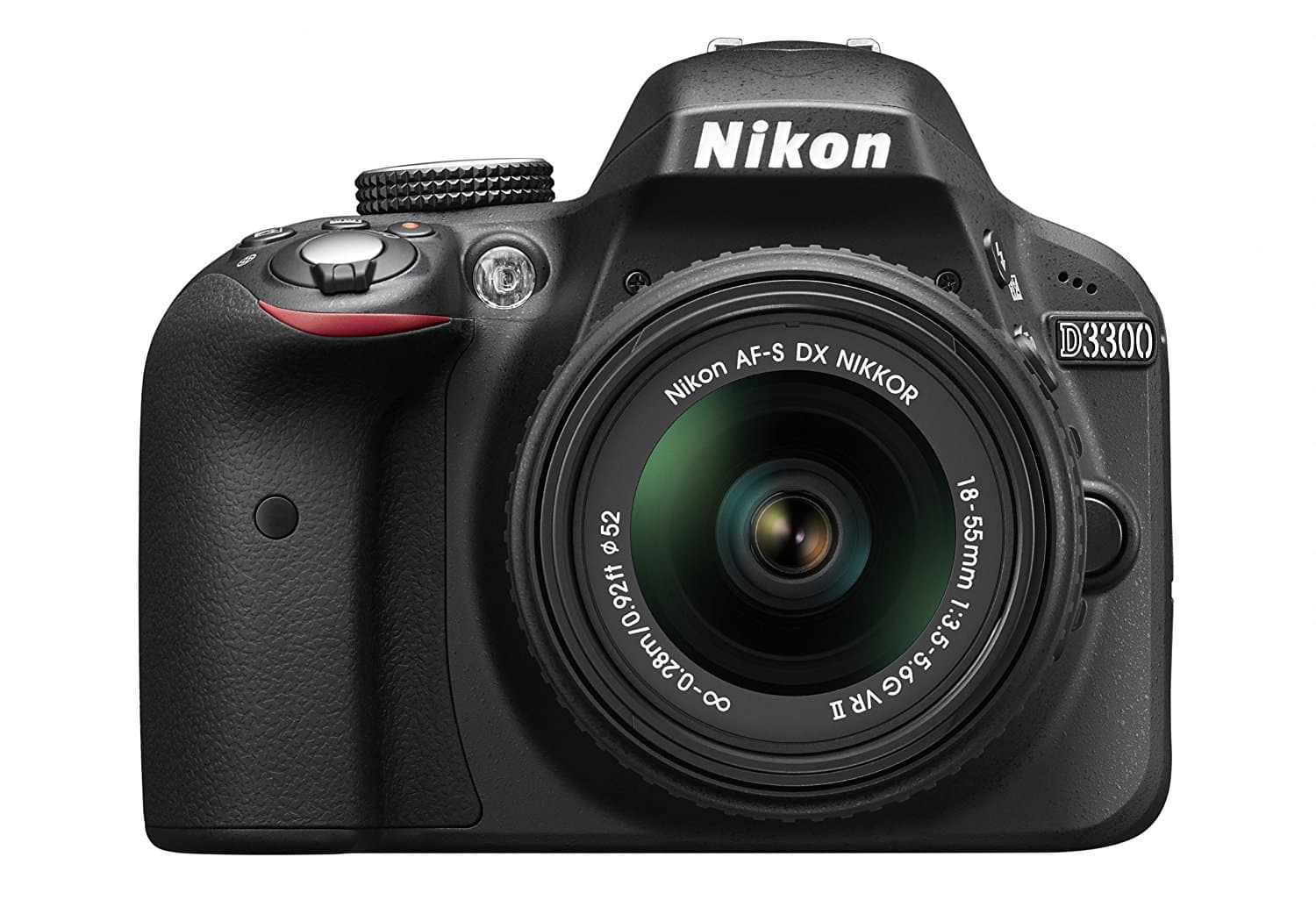 A front view of the Nikon D3300 Camera Kit