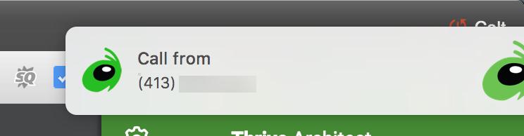 Grasshopper MacOS App Incoming Call Notification