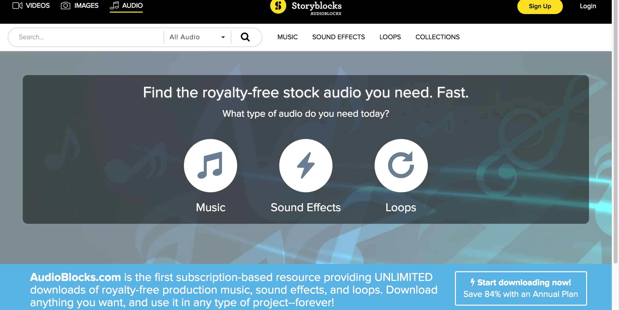 AudioBlocks Homepage