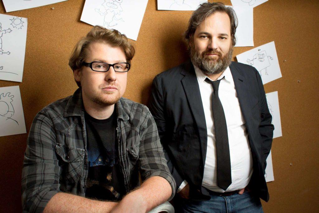 Rick and Morty creators, Dan Harmon and Justin Roiland