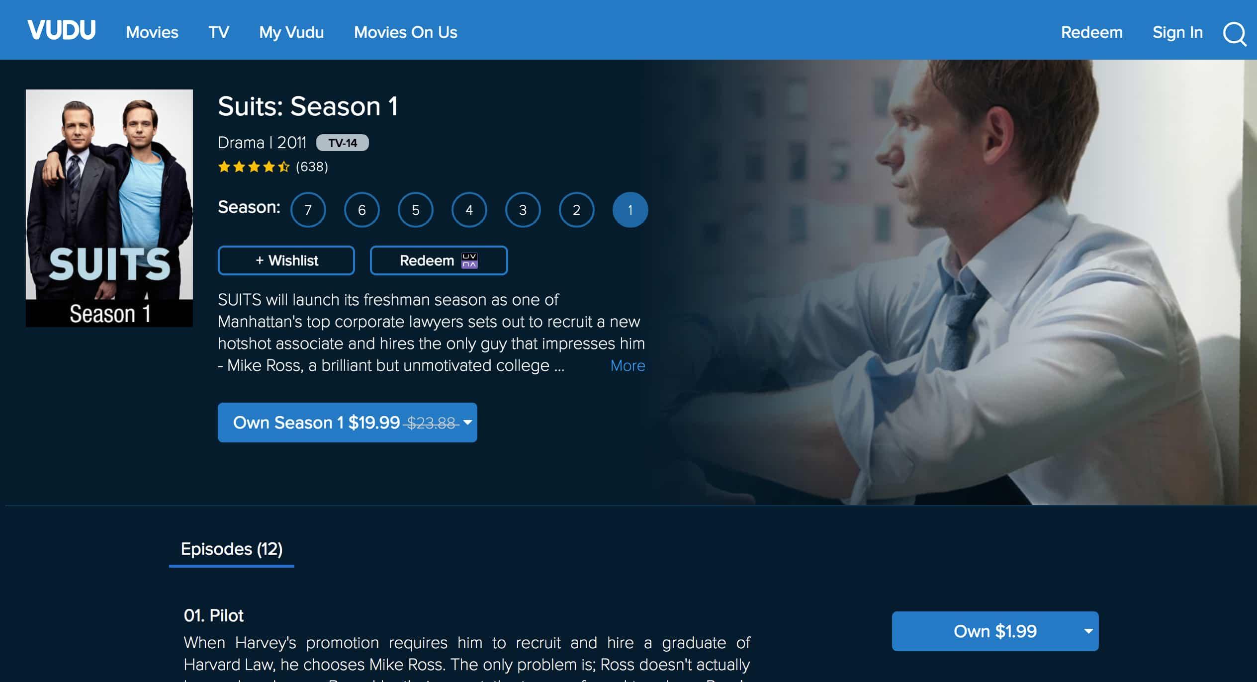 Vudu Suits Season 1 Watch Online