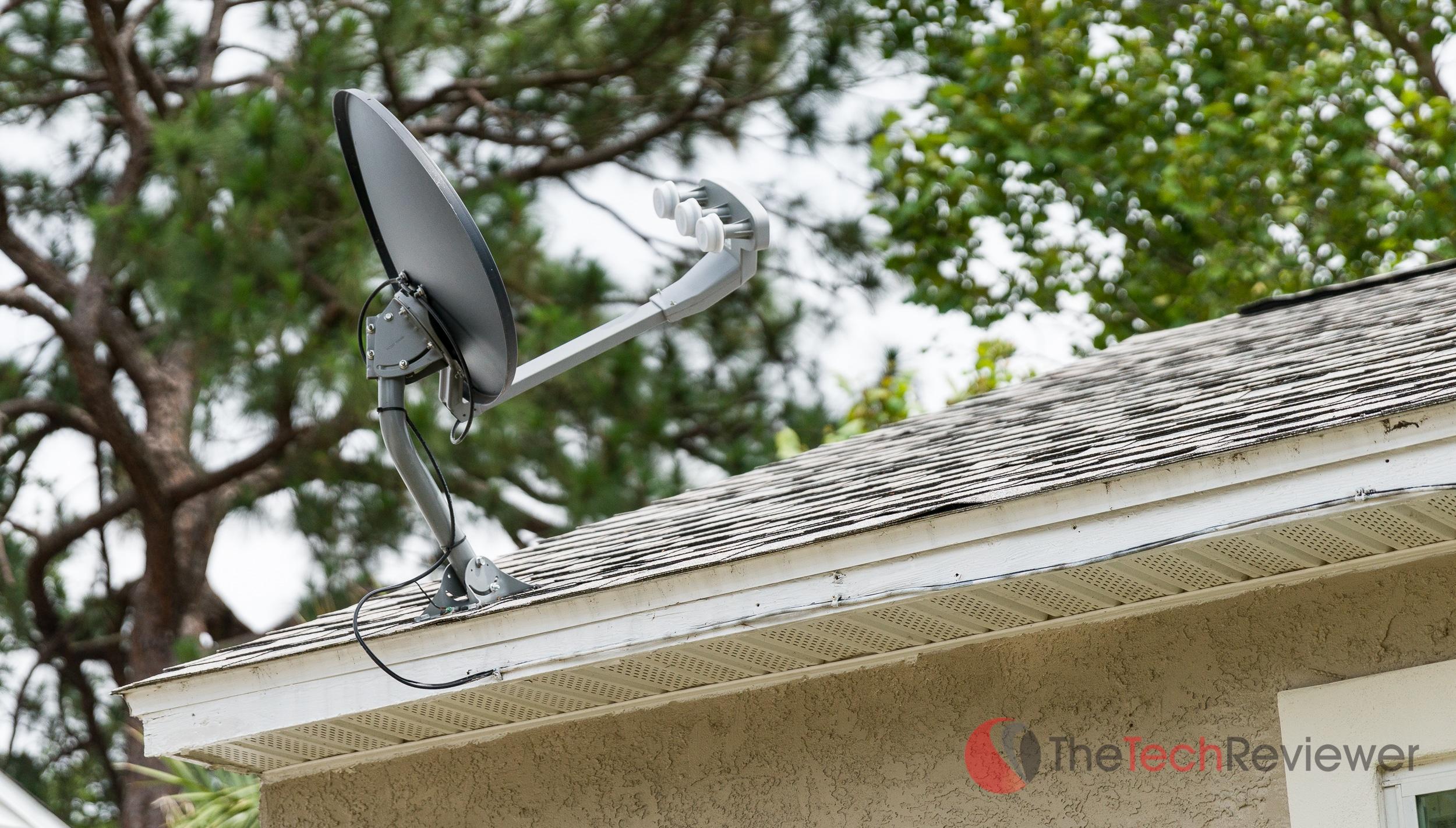 DISH Roof Installation Rear