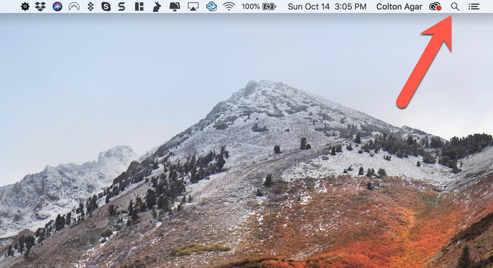 Apple MacOS Spotlight Button