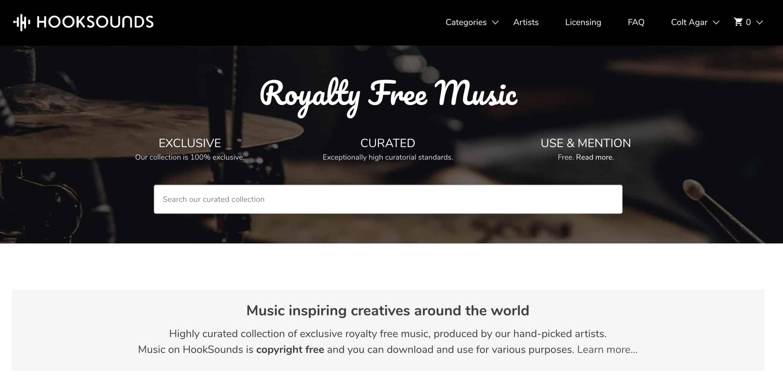 HookSounds Homepage