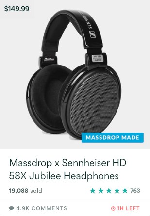 Massdrop X Sennheiser HD 58X Jubilee
