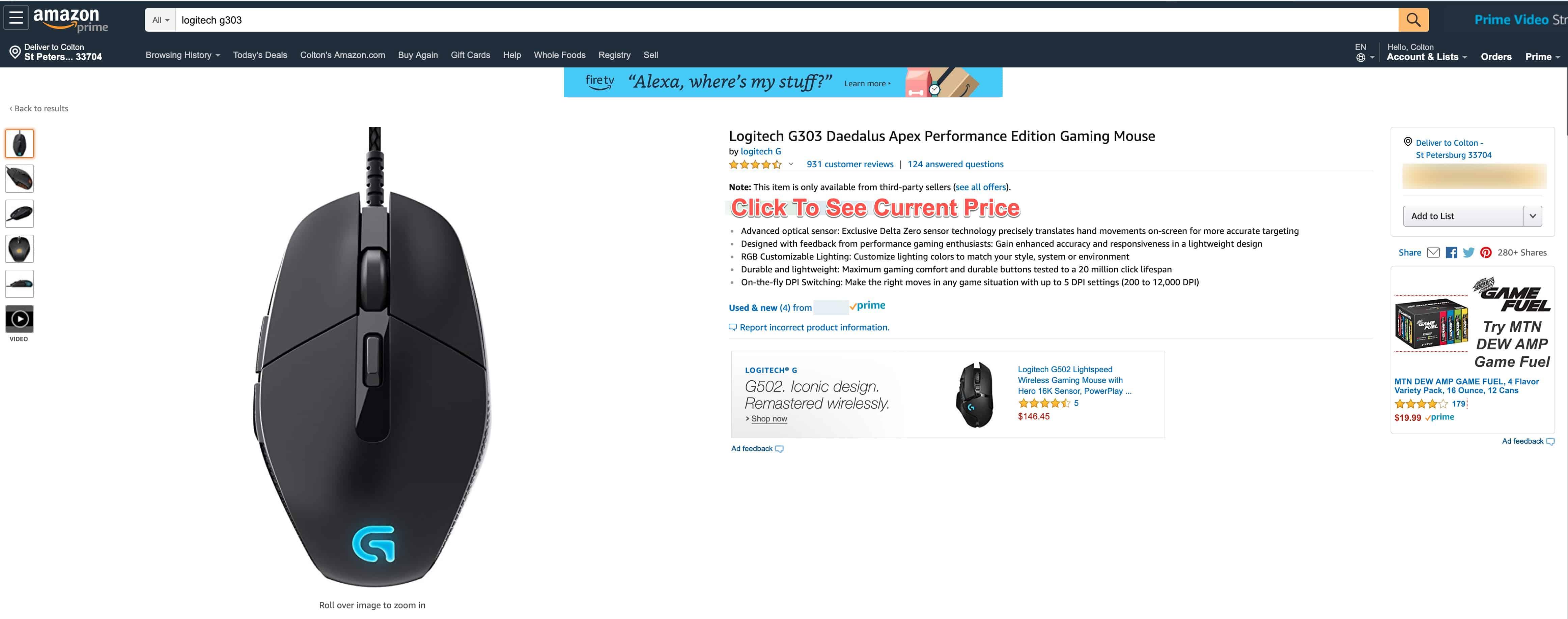 Logitech G303 Amazon