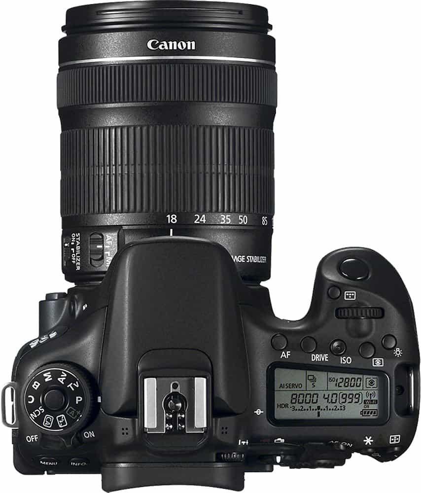 Canon 70D Body Top