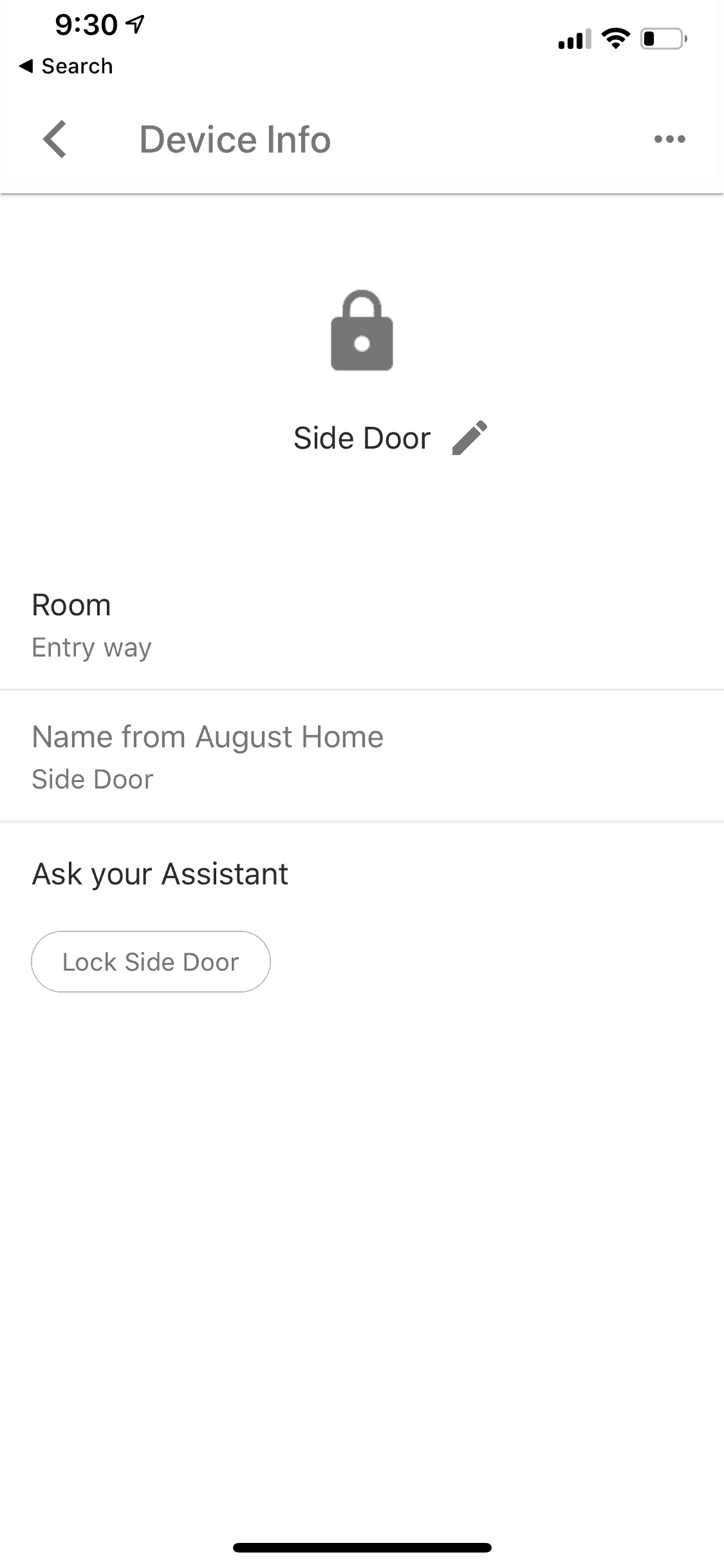 Google Assistant August Lock Configured
