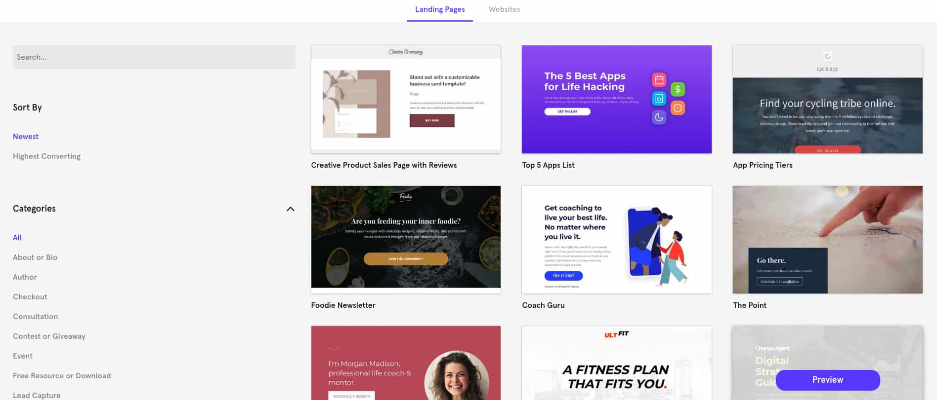 Leadpages Template Library