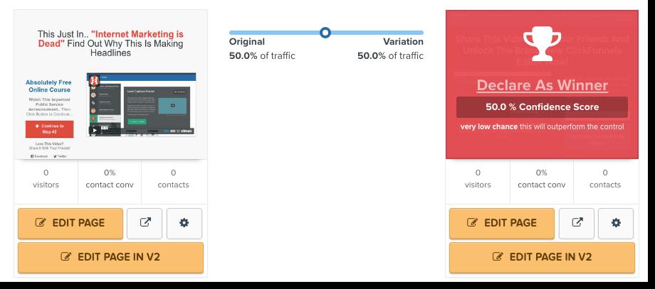 split testing clickfunnels