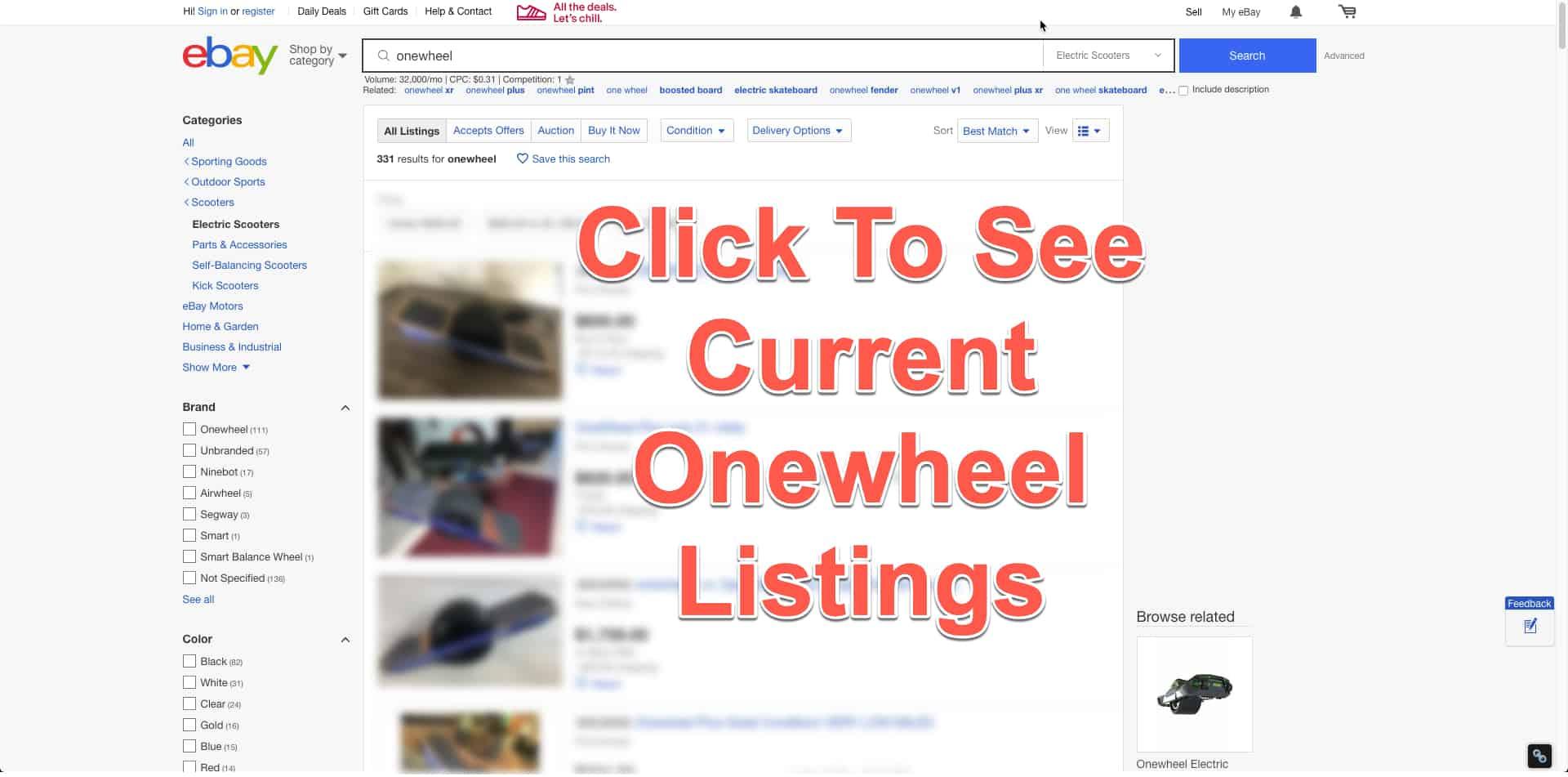used onewheels on ebay